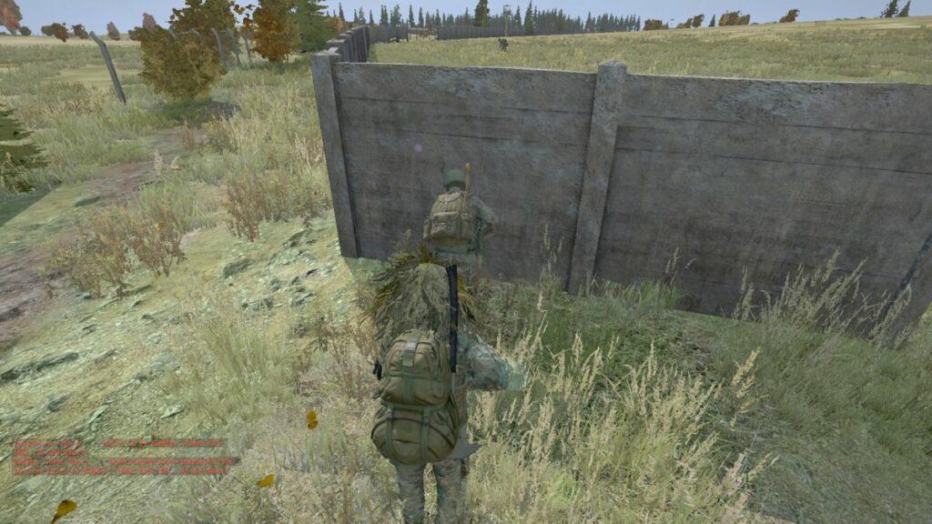 Kuva 1. Pelaajat väijyttävät yksin liikkuvaa selviytyjää, joka on matkalla luoteiselle sotilaslentokentälle.