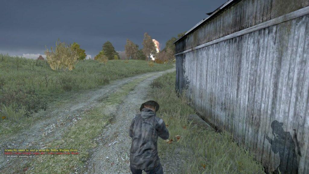 Kuva 4. Hetki ennen kuolemaa. Huijari surmaa palvelimen muut pelaajat käyttämällä tykistökeskitysmäistä räjähdyshuijausta.