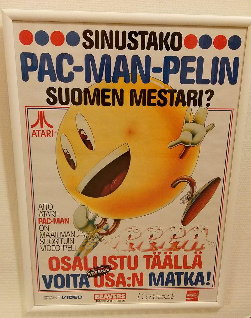 Kuva 1. Pac-Man-pelikilpailun juliste 1983. Kuva Jaakko Suominen.
