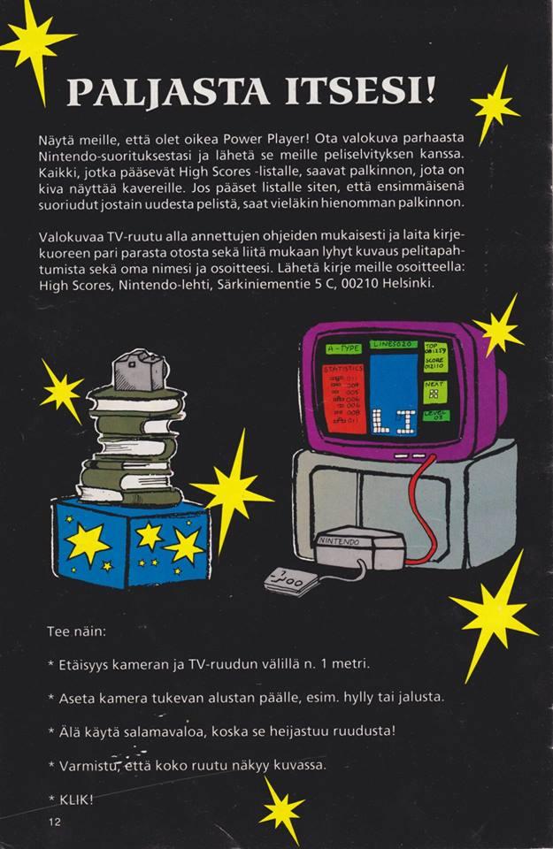 Kuva 7. Nintendo-lehden PowerPlayer-liite 3/1991, 12.