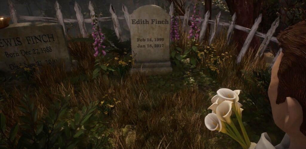 Kuva 6. Finchien tilan perhehauta ja nimihahmo Edith Finchin viimeinen leposija.