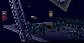 Kuva 9. Sotilaan hautajaiset avaruudessa Wing Commanderissa.